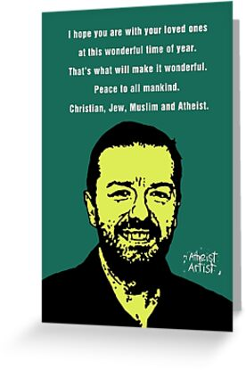 Ricky gervais atheist christmas greeting cards by djvyeates redbubble ricky gervais atheist christmas by djvyeates m4hsunfo