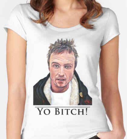 Yo Bitch Women's Fitted Scoop T-Shirt
