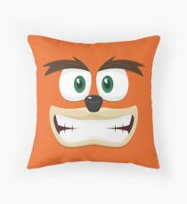 Crash Bandicoot face Throw Pillow