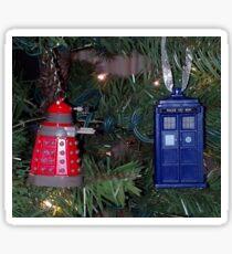 Whovian Christmas Ornaments Sticker