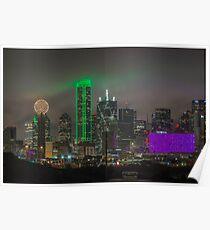 "Dallas ""Gotham"" Skyline Poster"