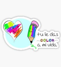 Le das color a mi vida  Sticker