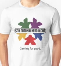 San Antonio Nerd Night - Color Flat (Light) Unisex T-Shirt