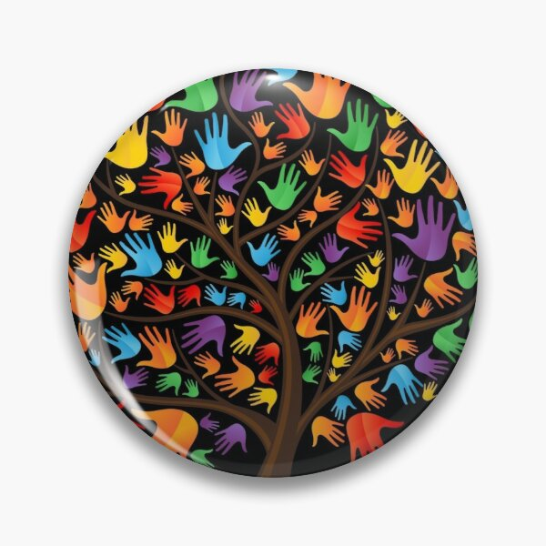 Different hand tree Pin