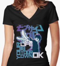 Your Life Is Your Own Ok - Mob Psycho 100 Women's Fitted V-Neck T-Shirt