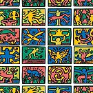 Haring Icon Pattern by BadBehaviour