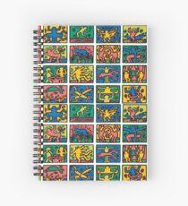 Haring Icon Pattern Spiral Notebook