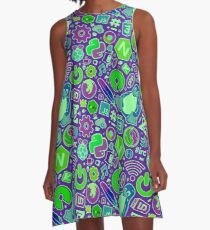 Code Like A Girl  A-Line Dress