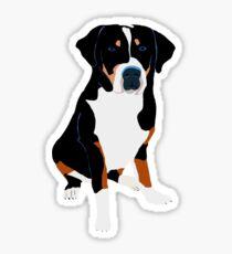 Greater Swiss Mountain Dog Art Sticker