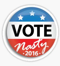 Vote Nasty Sticker