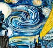 Starry night marvel poster Sticker