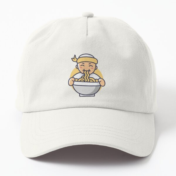 Japanese Ramen Noodles Bowl Boy  Dad Hat