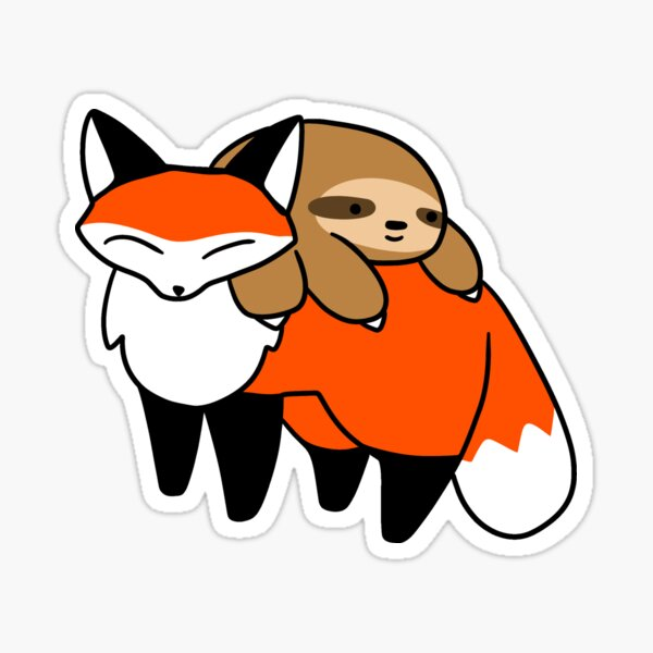 Sloth and Fox Sticker