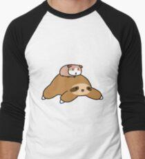 Sloth and Guinea Pig Men's Baseball ¾ T-Shirt
