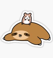 Sloth and Hamster Sticker