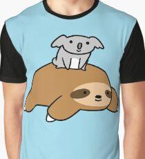 Koala and Sloth Graphic T-Shirt