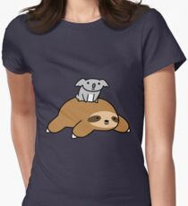 Koala and Sloth Womens Fitted T-Shirt