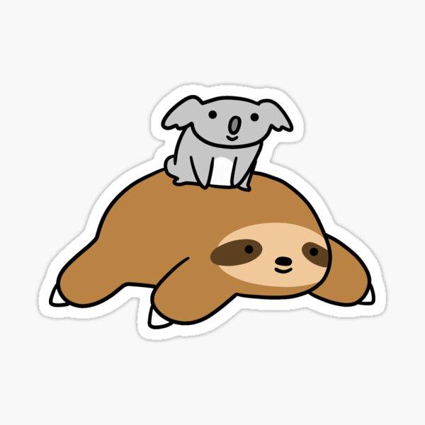 Koala y Sloth Pegatina