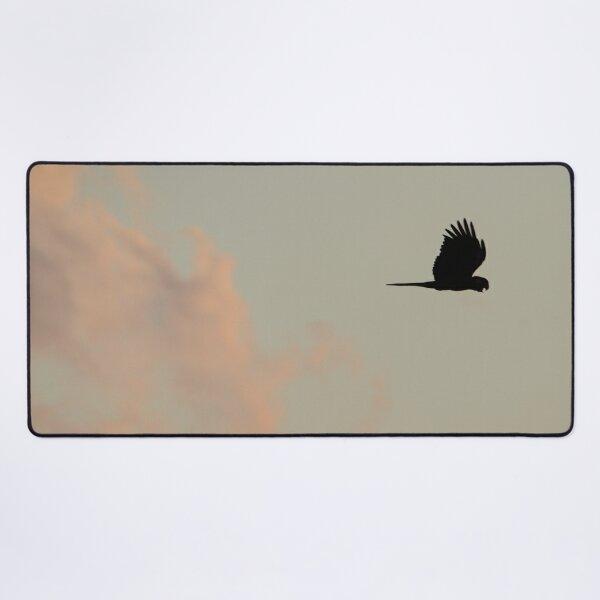 Flight of the Black Cockatoo Desk Mat