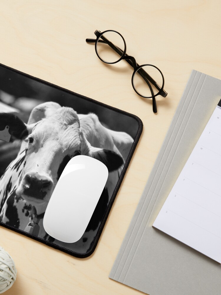 Alternate view of Portrait of a cow Mouse Pad