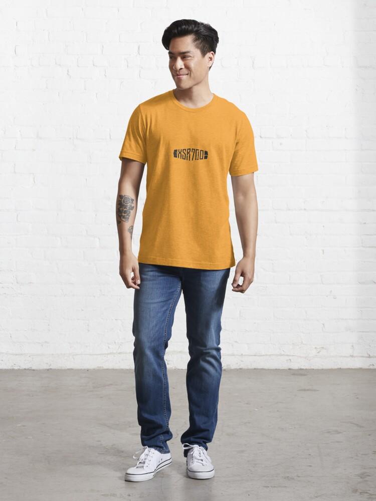 Alternate view of Yamaha XSR700 Yellow 60th Anniversary Distressed Logo Essential T-Shirt