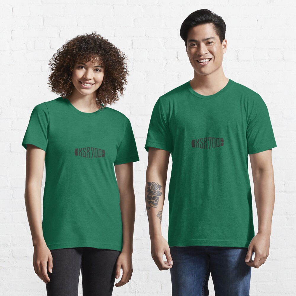 Yamaha XSR700 Forest Green Distressed Logo Essential T-Shirt
