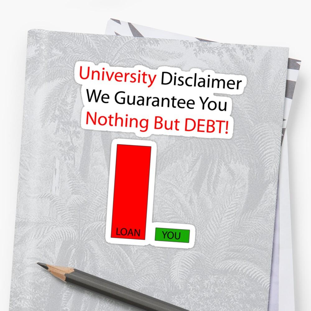 University Debt by Zac  Cheney