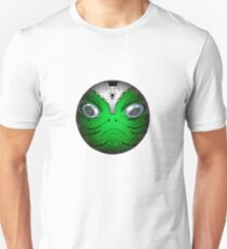 Portrait of Reptile alien with helmet Unisex T-Shirt