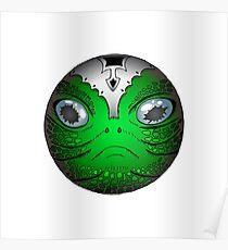 Portrait of Reptile alien with helmet Poster