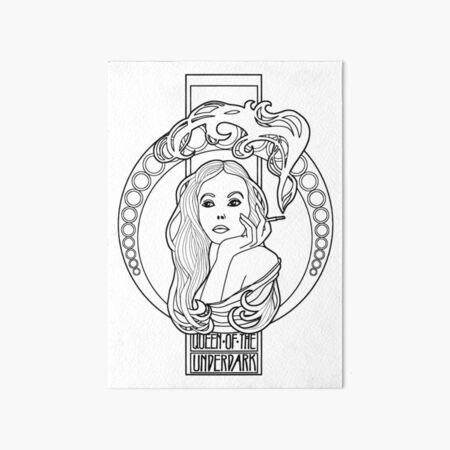the queen of the underdark/the drow queen Art Board Print