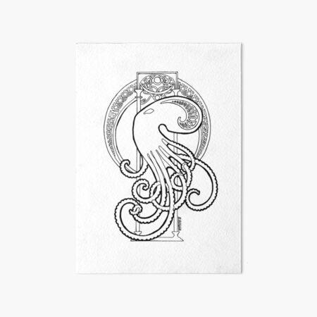 art nouveau 2.0 octopus Art Board Print
