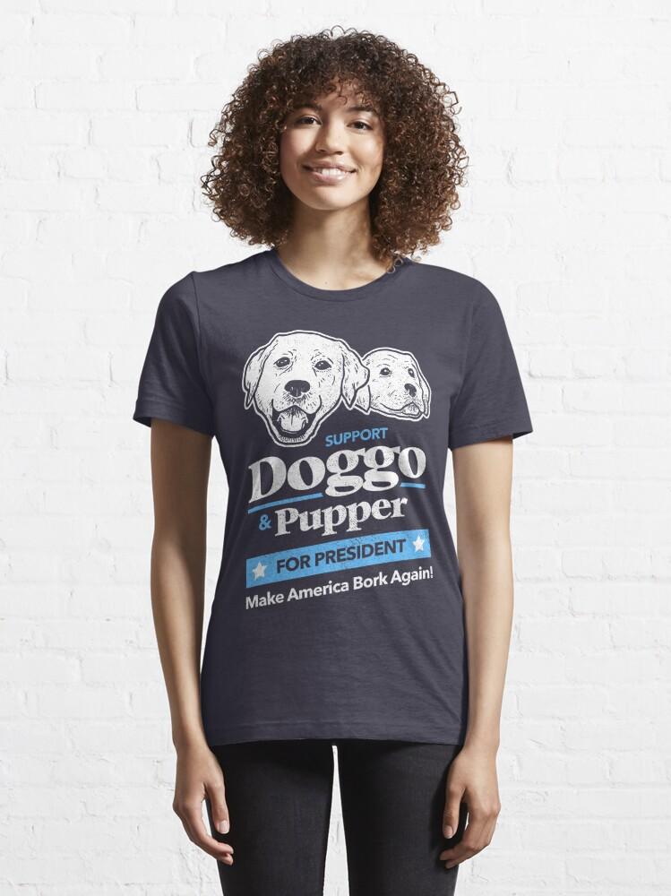 Alternate view of Doggo Pupper For President Essential T-Shirt