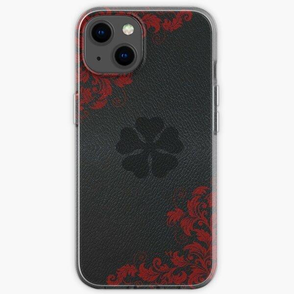 schwarzer Klee iPhone Flexible Hülle