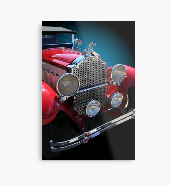 Studio Dalio - Vintage Red Touring Car Metal Print