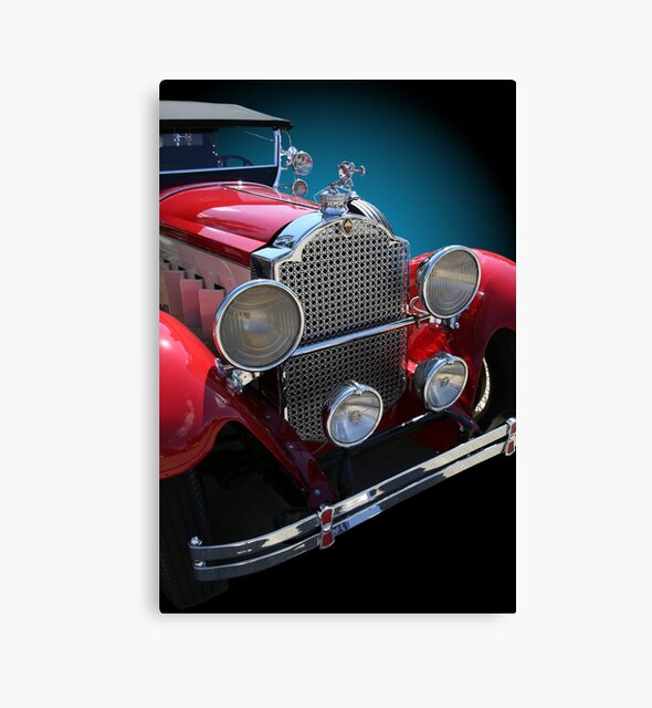 Studio Dalio - Vintage Red Touring Car Canvas Print