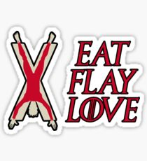 Eat, Flay, Love  Sticker