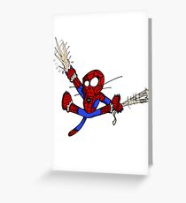 Spider-chat Greeting Card