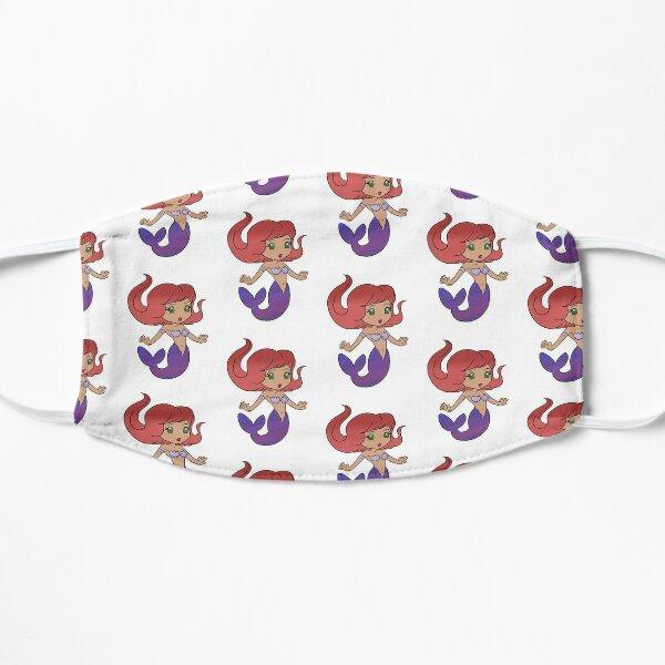 Mermaid Anime Style Redhead & Purple Flat Mask