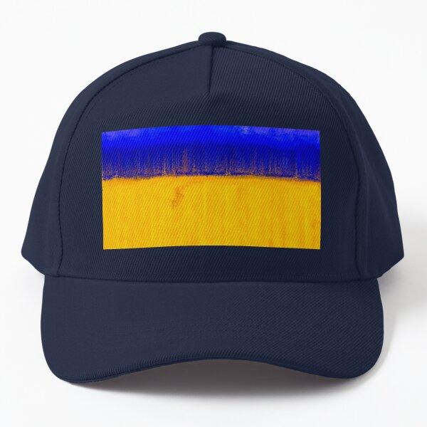Modern Abstract Yellow Blue Pattern Baseball Cap