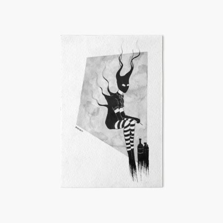 demons of quarantine - demon of recreational drugs Art Board Print