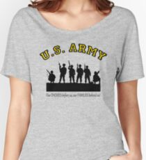 U.S. ARMY:  Our ENEMIES before us, our FAMILIES behind us! Women's Relaxed Fit T-Shirt