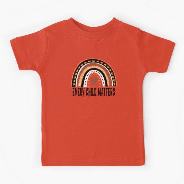 every child matters kids shirt, every child matters, orange shirt day, orange shirt, Canada Indigenous Children, Canadian, Indigenous Children Kids T-Shirt