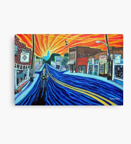 'SUNRISE SONG FOR NoDa IN THE 90s' Canvas Print
