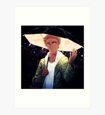 Starry Umbrella Art Print