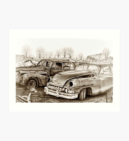 Junk Yard Art Print