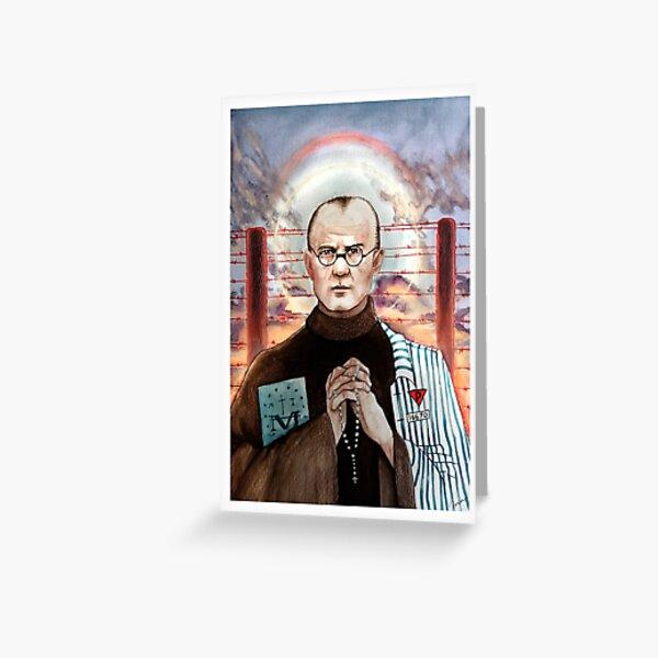 St Maximillian Kolbe - Patron Saint of Political Prisoners and Journalists Greeting Card