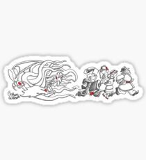 Gahan Wilson Art 2: THEM - Investigators Flee the Mythos Sticker