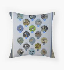 The Birds Of Inch Island Throw Pillow