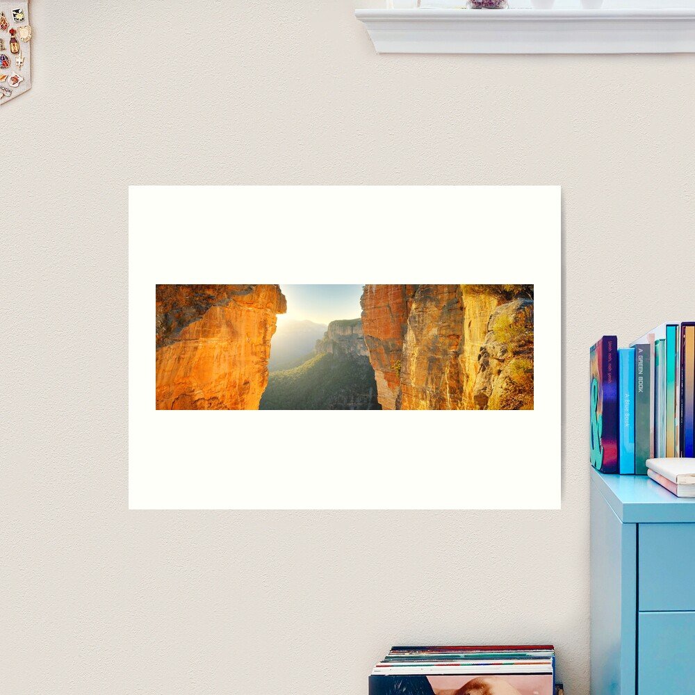 Between Cliffs, Blue Mountains, New South Wales, Australia Art Print