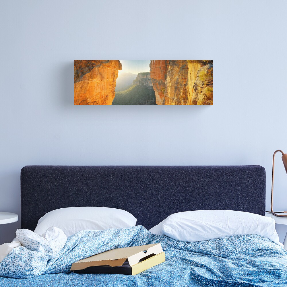Between Cliffs, Blue Mountains, New South Wales, Australia Canvas Print